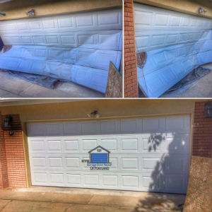 Garage Door Bent Panel Repair - ETS Garage Door Of Portland